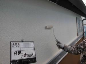 外壁スタッコ上塗り2回目