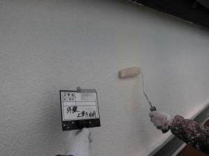 外壁スタッコ上塗り1回目